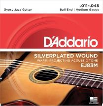 D\'addario Gypsy Jazz Ej83m Medium 11 45 (a Boule)