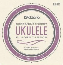 D\'addario And Co Cordes Pour Ukulele Ej99sc Pro-arte Carbone Soprano / Concert