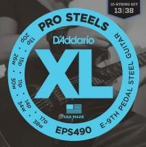 D\'addario And Co Eps490 Jeu De Cordes Guitare Pedal Steel .013/.038