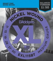 D\'addario And Co Exl115bt Cordes En Nickel Pour Guitare Electrique Balanced Medium 11-50