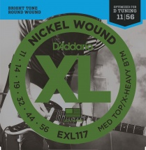 D\'addario Exl 117 Medium Top/extra Heavy Bottom 11-56