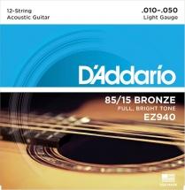 D\'addario Ez940 American Bronze 85/15 Light 12 Cordes 10-50