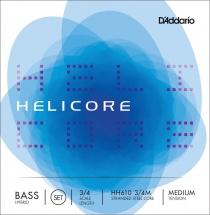 D\'addario Helicore Hybrid Contrebasse 3/4 Jeu De Cordes Medium