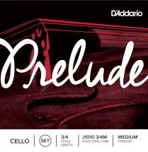 D\'addario Prelude Violoncelle 3/4 Jeu De Cordes - Tension Normale J1010-3/4m