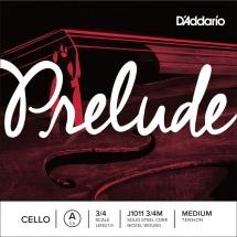 D\'addario Prelude Violoncelle 3/4 Corde De La Medium/file Nickel