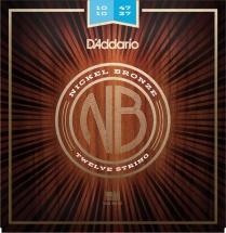 D\'addario And Co Cordes Pour Guitare Acoustique Nb1047-12 Nickel Bronze 12cordes Light 10-47