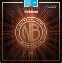 D\'addario And Co Cordes Pour Guitare Acoustique Nb1252bt Nickel Bronze Tension Balanced Light 12-52