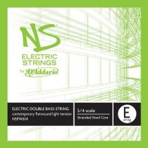 D\'addario And Co Corde Seule Moderne (mi) Pour Contrebasse Ns Electric Manche 3/4 Tension Medium