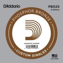 D\'addario And Co D\'addario Pb025 - Phosphor Bronze 0.64mm