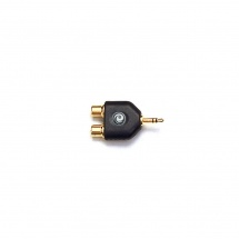 D\'addario And Co 1/8 Inch Male Stereo To Dual Rca Female Adapter