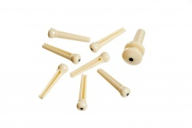 D\'addario And Co Injected Molded Bridge Pins With End Pin Set Of 7 Ivory With Black Dot