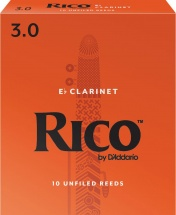 D\'addario - Rico Rba1030 - Anches Clarinette Mib Rico Par , Force 3 (pack De 10)