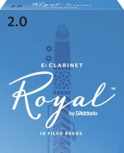 D\'addario - Rico Rbb1020 - Anches Rico Royal Clarinette Mib, Force 2.0, Pack De 10