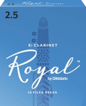 D\'addario - Rico Rbb1025 - Anches Rico Royal Clarinette Mib, Force 2.5, Pack De 10