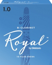 D\'addario - Rico Rcb1010 - Anches Rico Royal Clarinette Sib, Force 1.0, Pack De 10