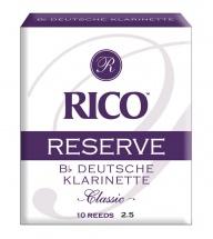 D\'addario - Rico Rcr1025d - Rico Anches Allemandes Rico Reserve Clarinette Sib, Force 2.5, Pack De 10