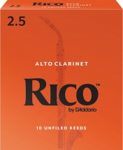 D\'addario - Rico Rda1025 - Anches Clarinette Alto Rico , Force 2,5 (pack De 10)
