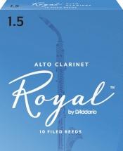 D\'addario - Rico Rdb1015 - Anches Rico Royal Clarinette Alto, Force 1.5, Pack De 10