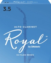 D\'addario - Rico Rdb1035 - Anches Rico Royal Clarinette Alto, Force 3.5, Pack De 10