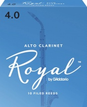 D\'addario - Rico Rdb1040 - Anches Rico Royal Clarinette Alto, Force 4.0, Pack De 10