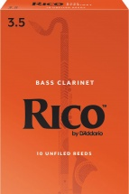D\'addario - Rico Rea1035 - Anches Rico Royal Clarinette Basse, Force 3.5, Pack De 10