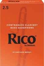 Rico Anches Clarinette Contrebasse Force 2.5 Pack De 10