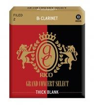 Rico Anches Grand Concert Avec Coeur épais Clarinette Sib Coupe à La Française Force 2.0 Pack De 10
