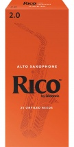 D\'addario - Rico Rja2520 - Anches Rico Saxophone Alto, Force 2.0, Pack De 25