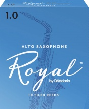 D\'addario - Rico Rjb1010 - Anches Rico Royal Saxophone Alto, Force 1.0, Pack De 10