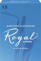 D\'addario - Rico Rlb1015 - Rico Royal Baritone Saxophone Reeds, Force 1.5, Pack De 10