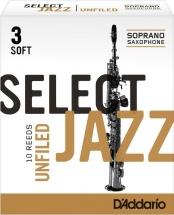 Rico Anches De Saxophone Soprano Rico Jazz Select Unfield 3s