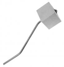 Danmar 306bs - Batte Pedale Gc - Feutre Carre Blanc - Tige Chrome - Courbe Double Pedale
