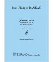 Rameau - Quam Dilecta - Chant Et Piano