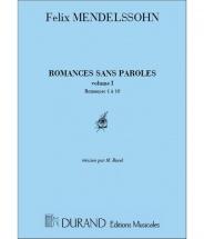 Mendelssohn - Romances Sans Paroles Vol.1 - Piano