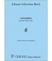 Bach - Concerto Re Mineur Bw 1043 - 2 Violons/piano