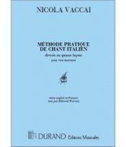 Vaccai - Methode De Chant - Voix Mezzo-soprano Et Piano