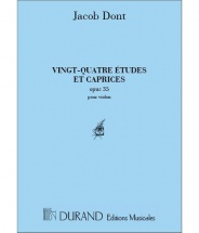 Dont - 24 Etudes & Caprices - Violon