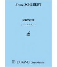 Schubert - Serenade - Voix Elevees Et Piano