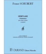 Schubert F. - Serenade (voix Graves) - Chant Et Piano