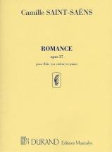 Saint Saens C. - Romance Op 37 - Flute Et Piano