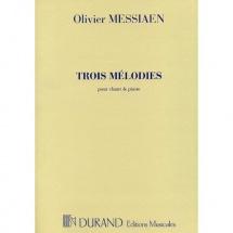 Messiaen O. - 3 Melodies - Voix Soprano Et Piano