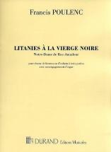 Poulenc F. - Litanies A La Vierge Noire - Chant Et Orgue