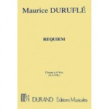 Durufle M. - Requiem Choeurs A Quatre Voix (s.a.t.b.) - Choeur