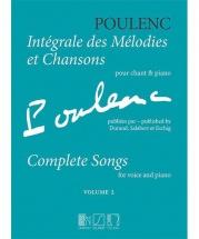 Poulenc F. - Integrale Des Melodies Et Chansons Vol.2 - Chant and Piano
