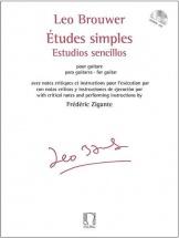 Brouwer Leo - Etudes Simples - Estudios Sencillos - Guiitare