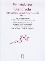Sor F. - Grand Solo (edition Pierre-joseph Porro. 1811-1812) - Guitare