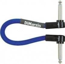 Dimarzio Dep17j06rr-eb Cable Patch Jack Coude Bleu Electrique