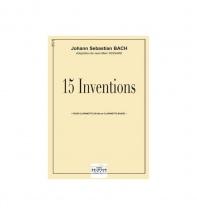 Bach Johann-sebastian - 15 Inventions Pour Clarinette Et Clarinette Basse