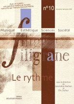 Revue Filigrane N°10 - Le Rythme