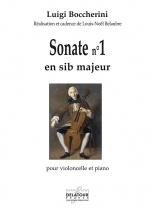 Boccherini Luigi - Sonate N°1 En Sib Majeur Pour Violoncelle Et Piano
